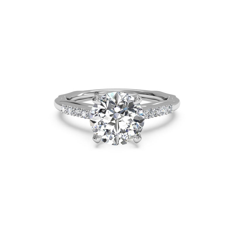 Ritani Modern French-Set Round Brilliant Diamond Engagement Ring