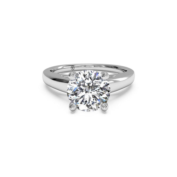 Ritani Solitaire Cathedral Round Brilliant Diamond Engagement Ring
