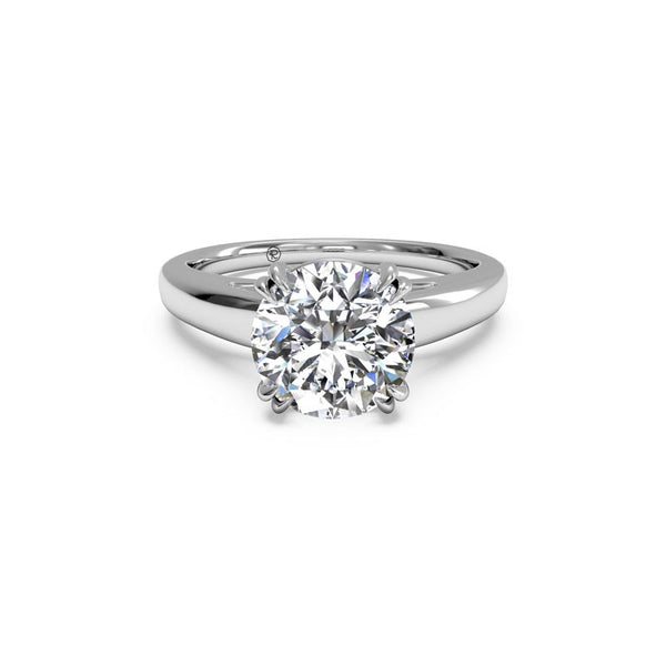 Ritani Solitaire Cathedral Tulip Round Diamond Engagement Ring
