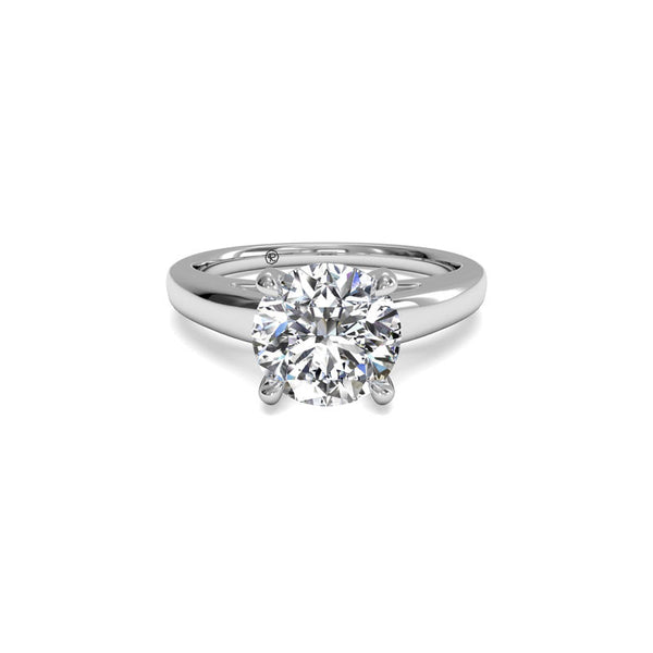 Ritani Solitaire Cathedral Surprise Diamond Round Engagement Ring