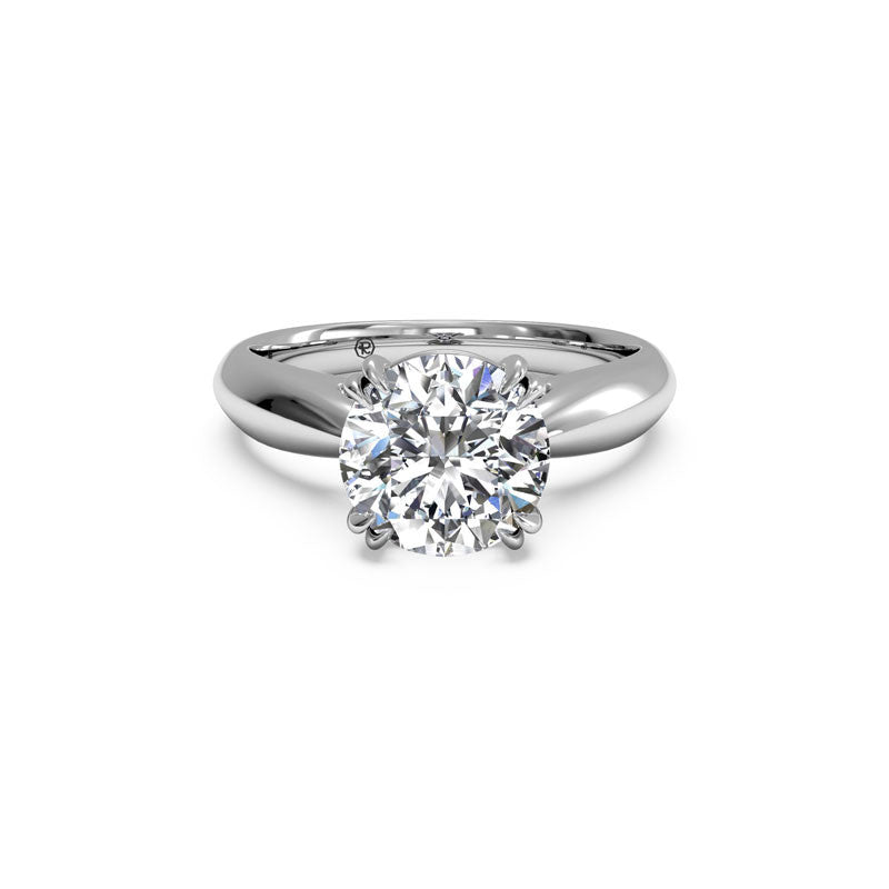 Ritani Tulip Cathedral Round Brilliant Diamond Engagement Ring