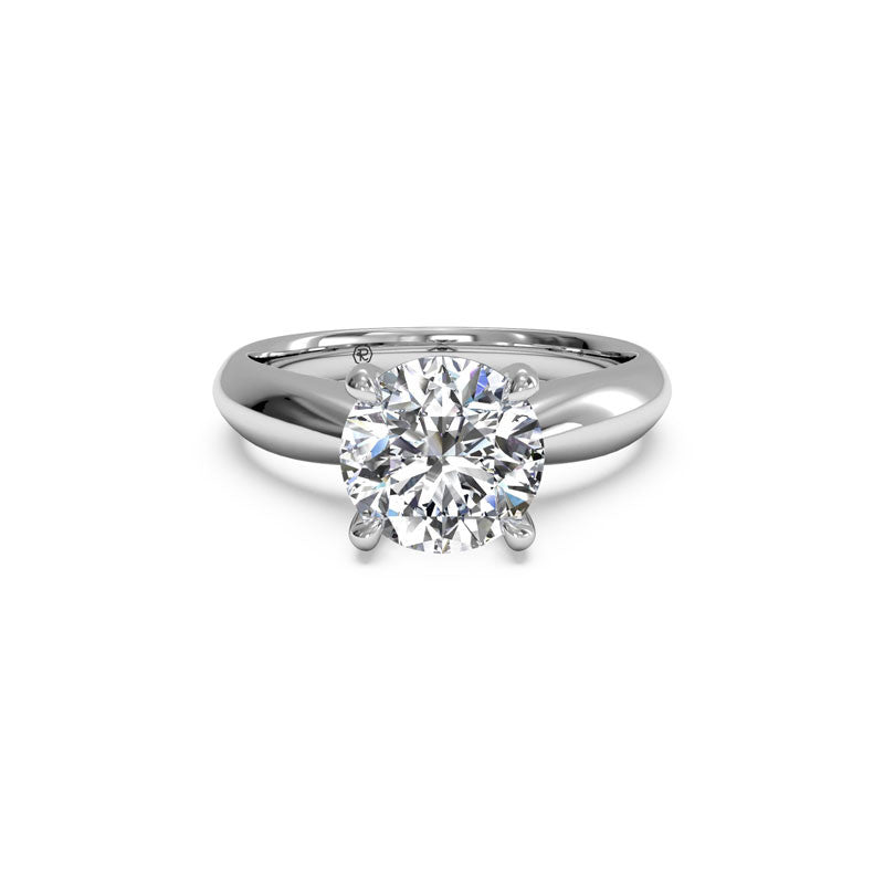 Ritani Tapered Surprise Diamond Round Diamond Engagement Ring
