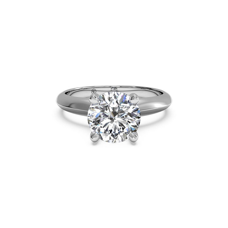 Ritani Knife-Edge Solitaire Round Brilliant Diamond Engagement Ring