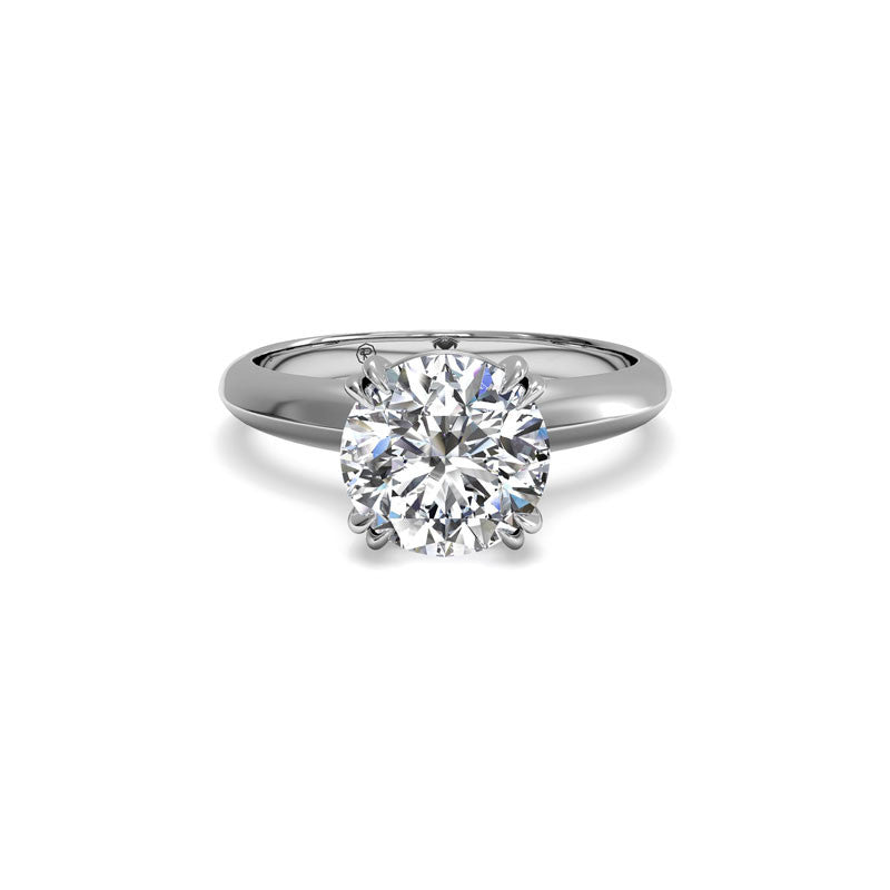 Ritani Knife-Edge Tulip Solitaire Round Diamond Engagement Ring
