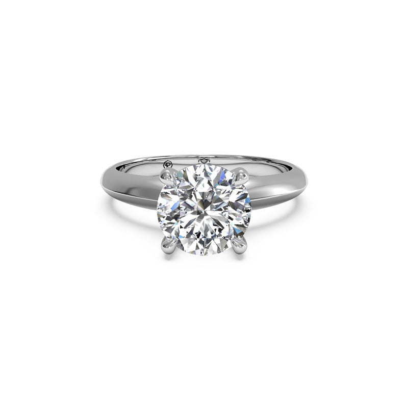 Ritani Knife-Edge Surprise Diamond Round Diamond Engagement Ring