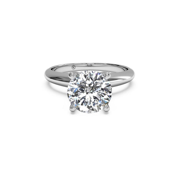 Ritani Solitaire Knife-Edge Round Brilliant Diamond Engagement Ring
