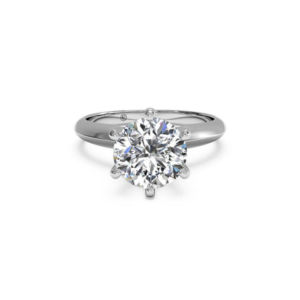 Ritani Six-Prong Solitaire Knife-Edge Round Diamond Engagement Ring