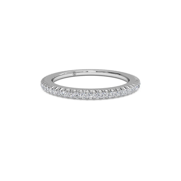 Ritani Ladies Micropave 0.30-Carat Diamond Eternity Wedding Band