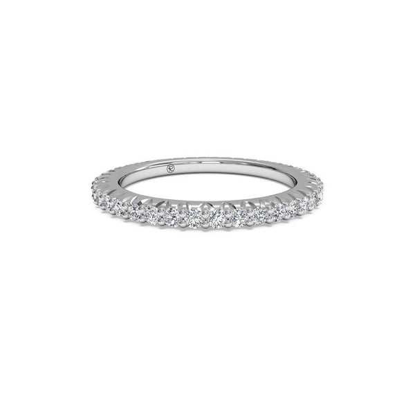 Ritani Ladies Micropave 0.60-Carat Diamond Eternity Wedding Band