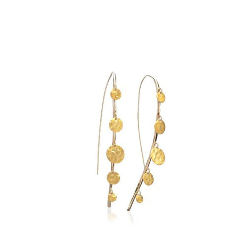 Confetti Collection Sterling Silver Wire with 18 Karat Yellow Gold Vermeil Earrings
