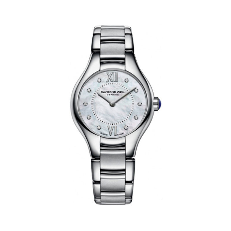 Raymond Weil Noemia Ladies Stainless MOP Diamond Dial Watch 5127-ST-00985