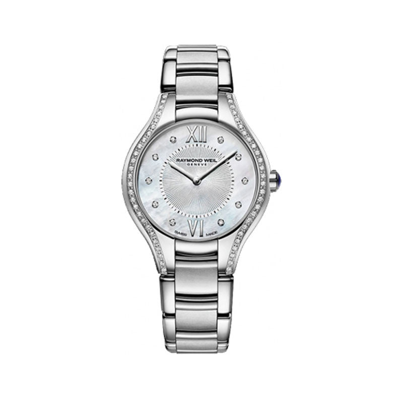 Raymond Weil Noemia Ladies Stainless MOP Diamond Watch 5127-STS-00985
