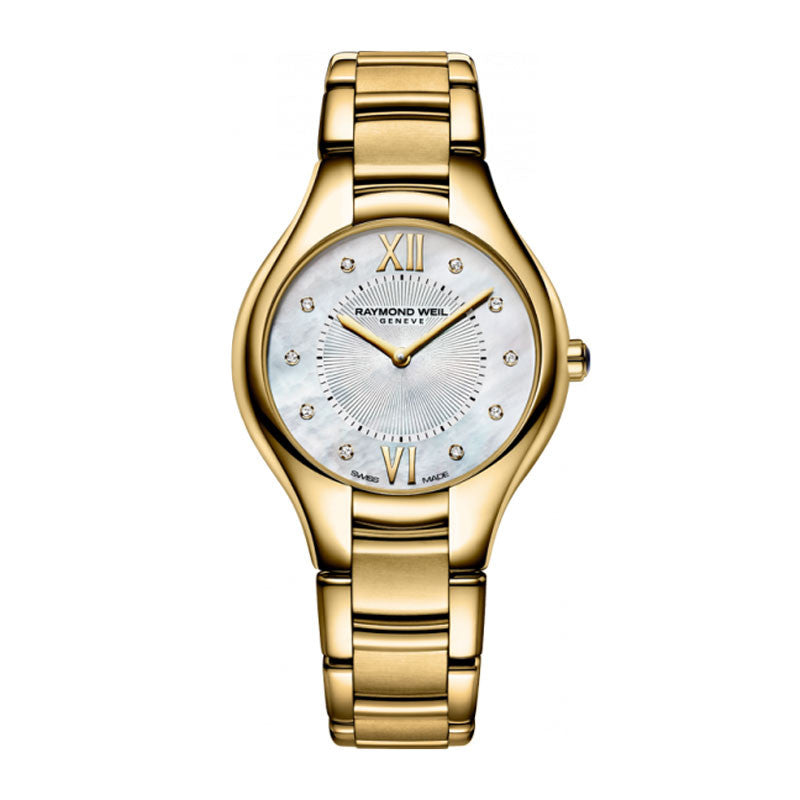 Raymond Weil Noemia Ladies MOP Diamond Dial Watch 5132-P-00985