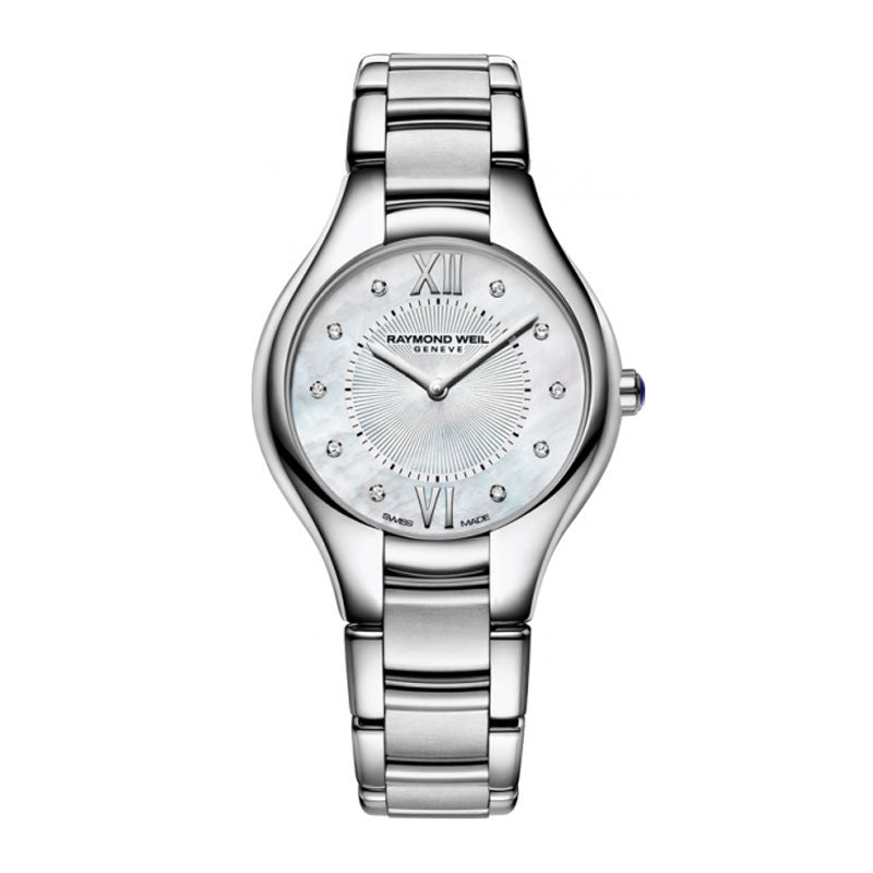 Raymond Weil Noemia Ladies MOP Diamond Dial Watch 5132-ST-00985