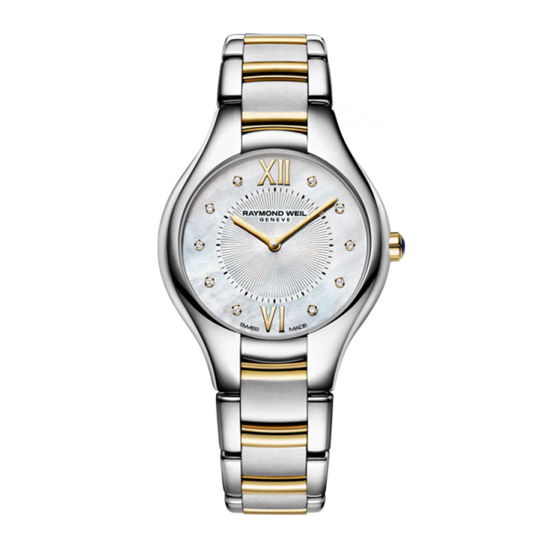 Raymond Weil Noemia Ladies Two-Tone MOP Diamond Dial Watch 5132-STP-00985