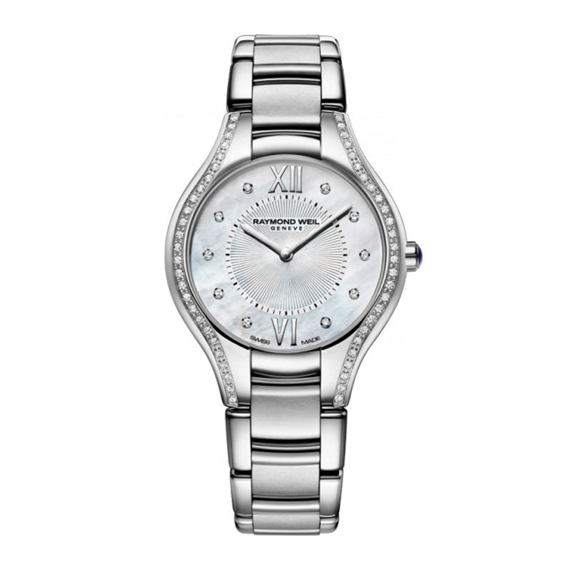 Raymond Weil Noemia Ladies Stainless MOP Diamond Watch 5132-STS-00985