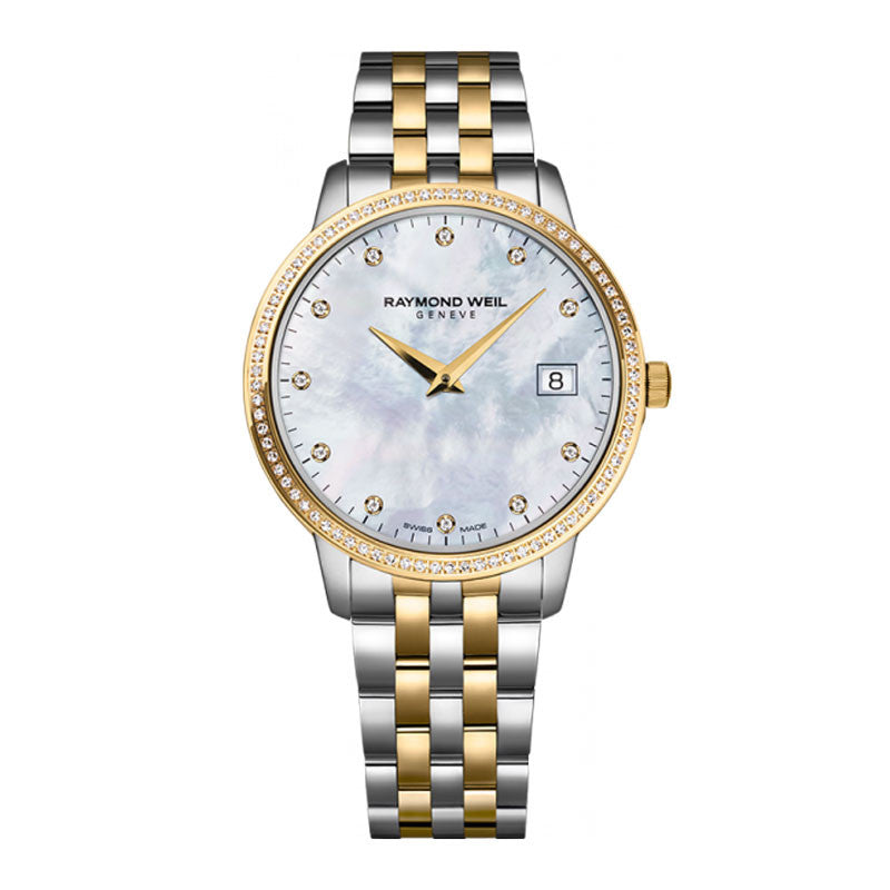Raymond Weil Toccata Ladies Two-Tone Diamond Watch 5388-SPS-97081