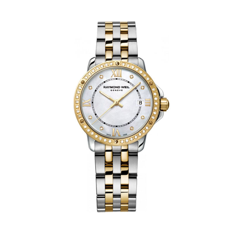 Raymond Weil Tango Ladies Two-Tone Diamond Watch 5391-SPS-00995
