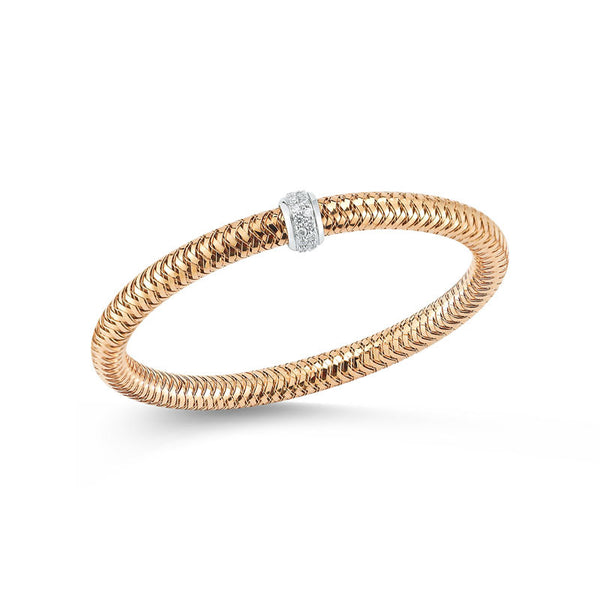 Primavera 18 karat rose and white gold diamond bracelet
