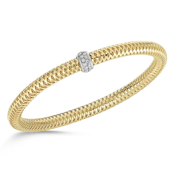 Primavera 18 karat yellow and white gold diamond bracelet