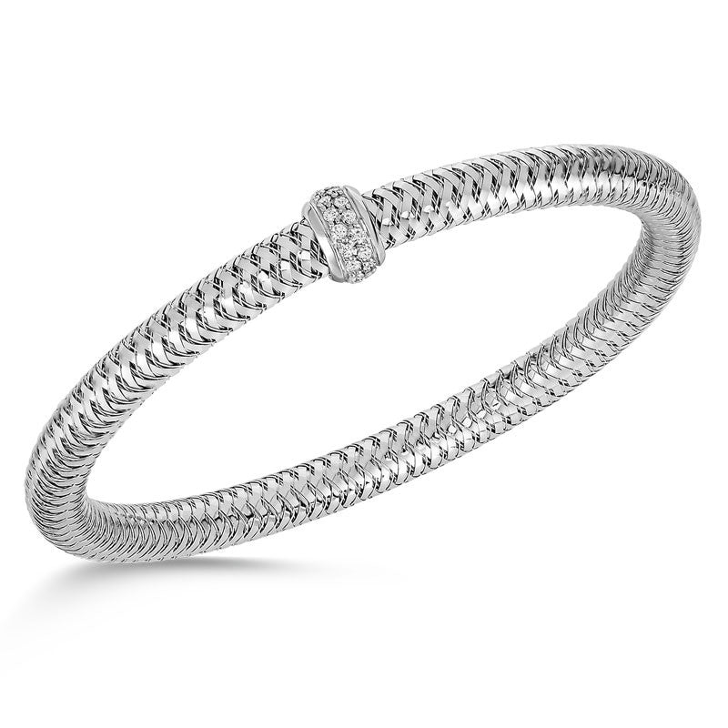 Primavera 18 karat white gold diamond bracelet