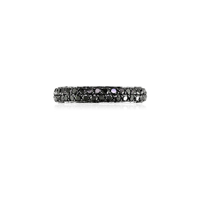 Varenna Jewel Two Row Pave Set Black Diamond Eternity Band