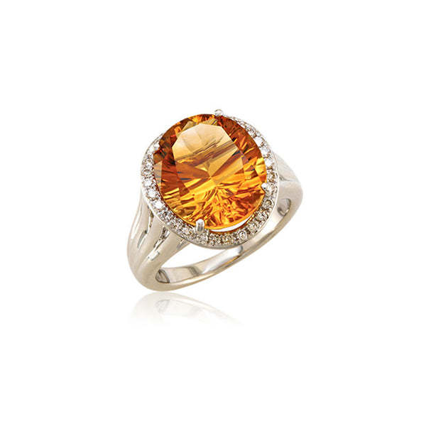 Lago Collection Champagne Citrine and Diamond Ring
