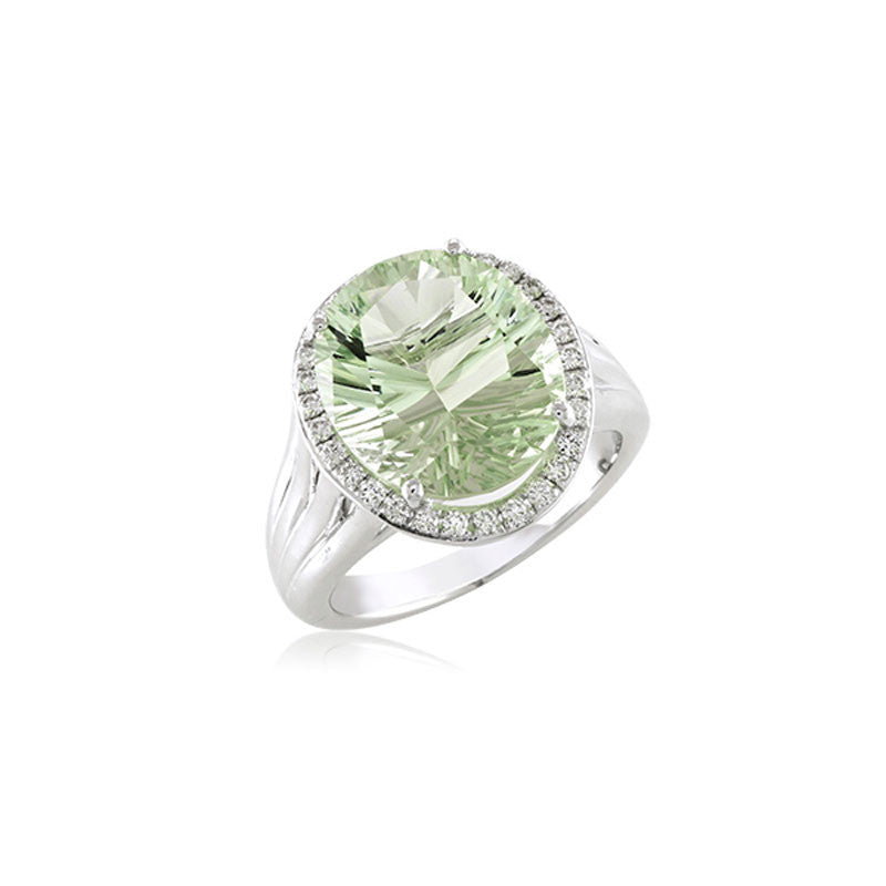 Lago Collection Prasiolite and Diamond Ring