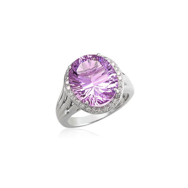 Lago Collection Rose de France and Diamond Ring