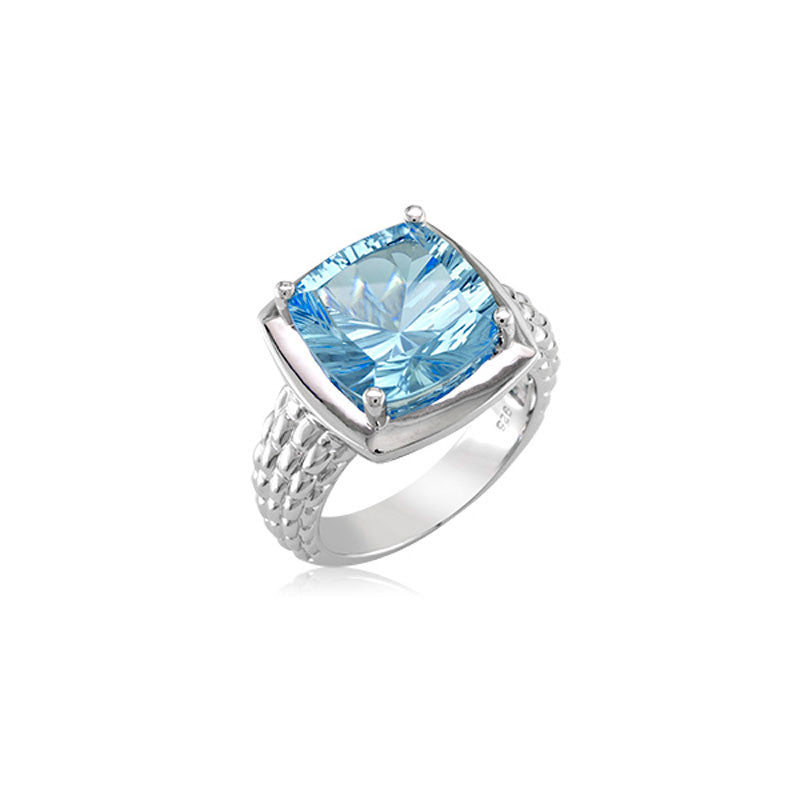 Pietra Collection Blue Topaz Ring