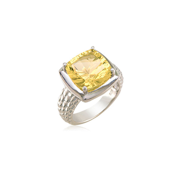 Pietra Collection Lemon Quartz Ring