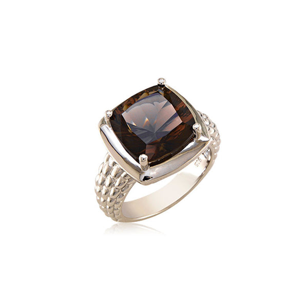 Pietra Collection Rich Chocolate Quartz Ring