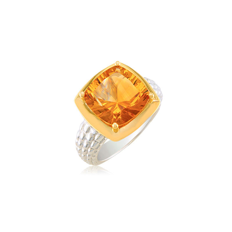 Pietra Collection Citrine Two-Tone Ring