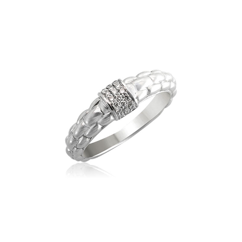 Pietra Collection Pave Station Ring