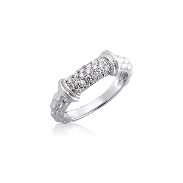 Pietra Collection Petite Pave Bar Station Ring