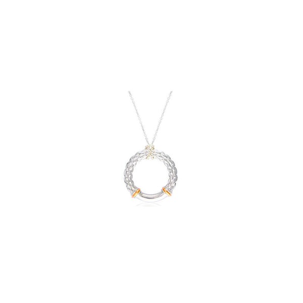 Pietra Collection 18K Rose Gold Accent Circle Pendant