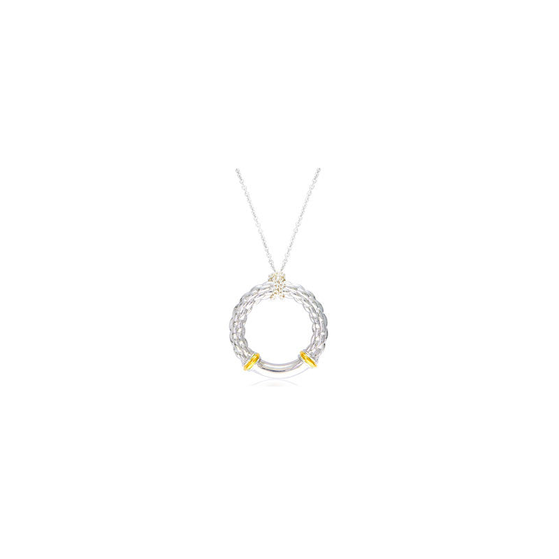 Pietra Collection 18K Yellow Gold Accent Circle Pendant