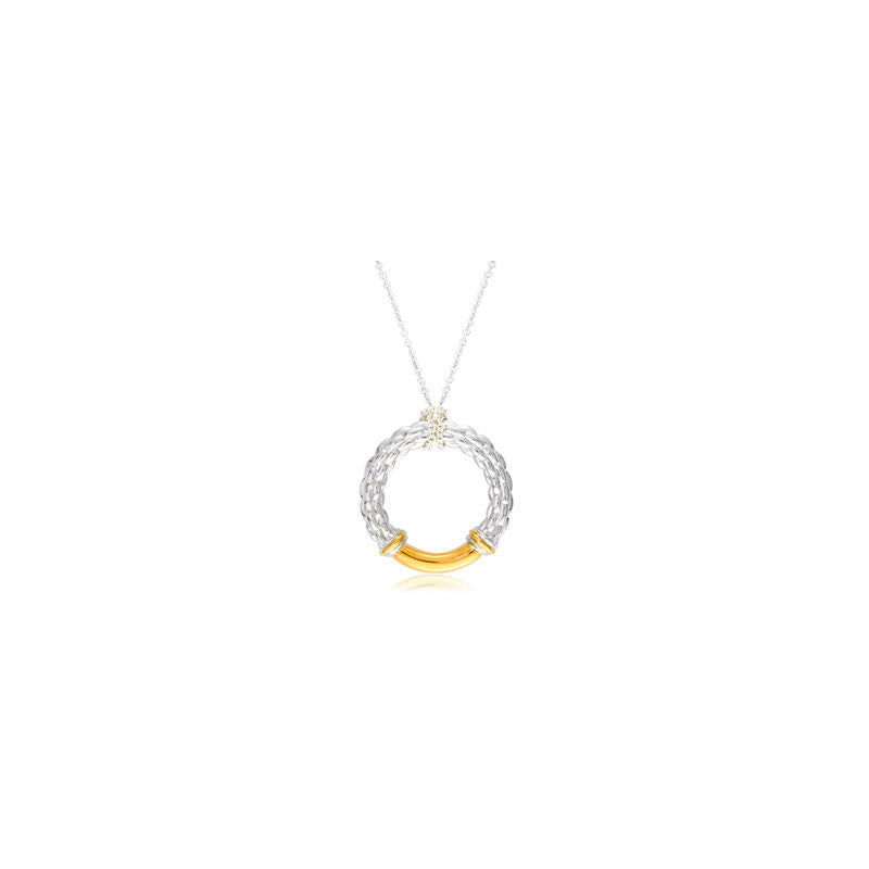 Pietra Collection 18K Yellow Gold Station Circle Pendant