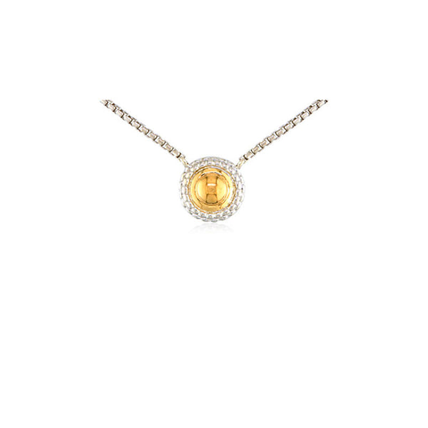 Pietra Collection Two-Tone Circle Pendant