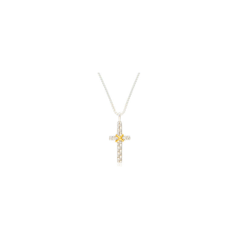 Pietra Collection Two-Tone Cross Pendant