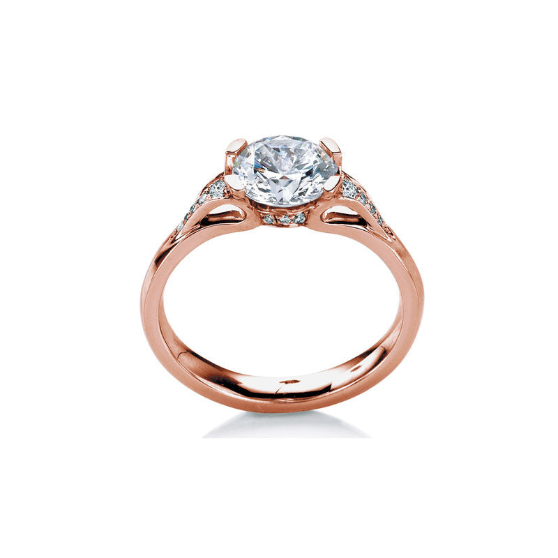 Eorsa Round Brilliant Diamond Engagement Ring