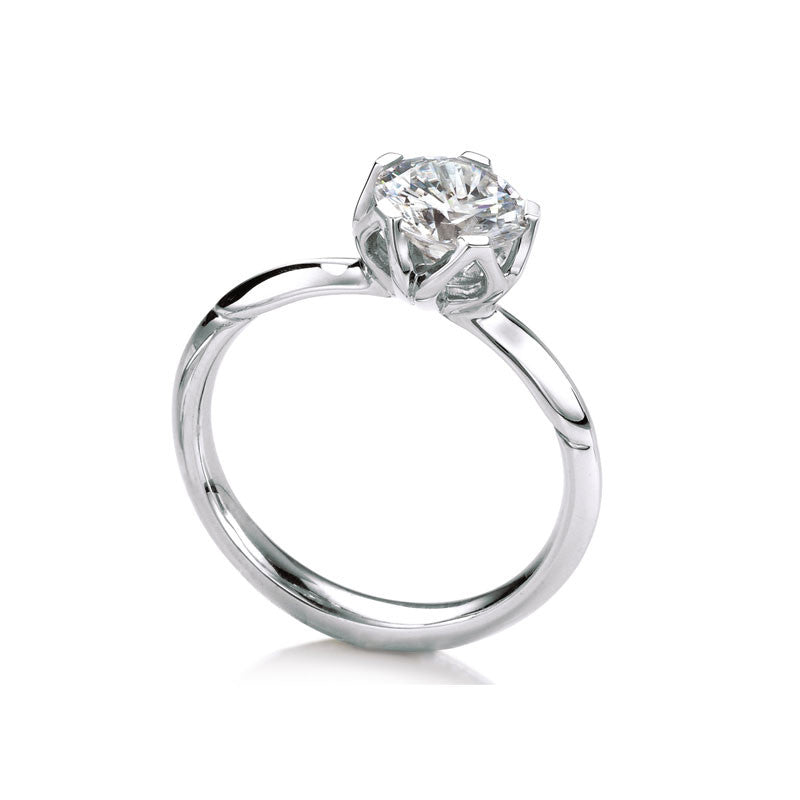 Bluebell Solitaire Round Brilliant Diamond Enagement Ring