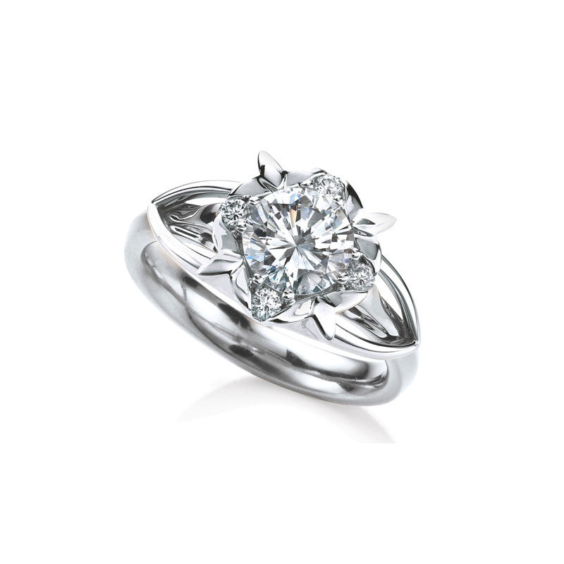 Primrose  Round Brilliant Diamond Engagement Ring