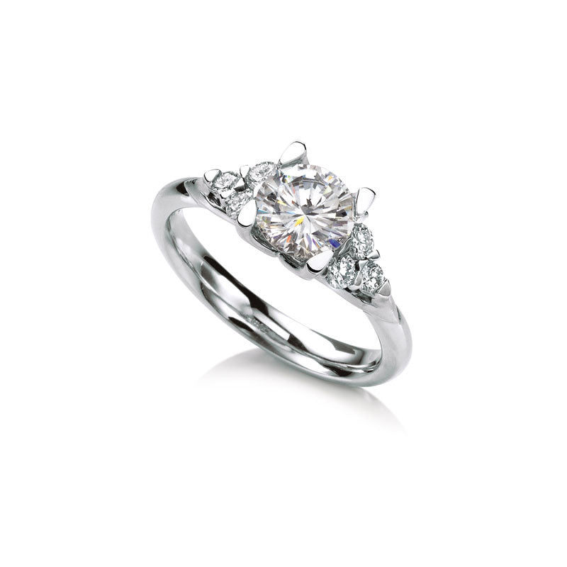 Meadowsweet  Round Brilliant Diamond Engagement Ring