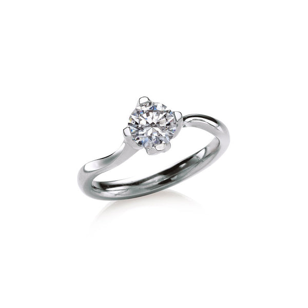 Rockrose  Solitaire Round Brilliant Diamond Engagement Ring