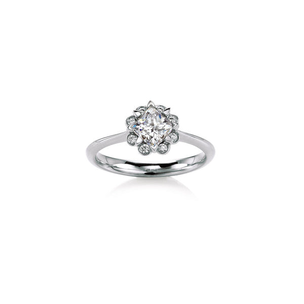 Heather Solitaire Princess-Cut Diamond Engagement Ring