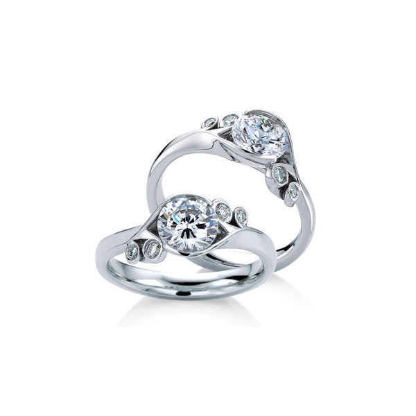 Fern Round Brilliant Diamond Engagement Ring
