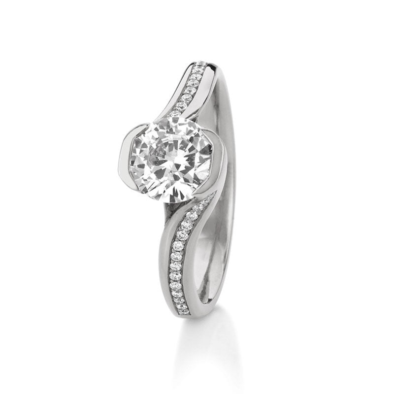 Perth Round Brilliant Diamond Engagement Ring