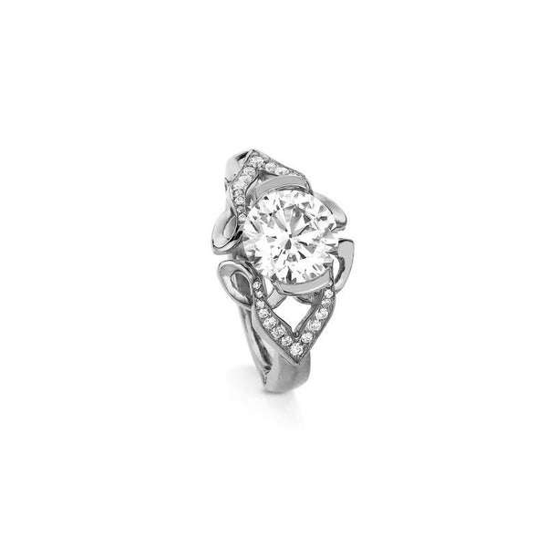 Paisley Round Brilliant Diamond Engagement Ring