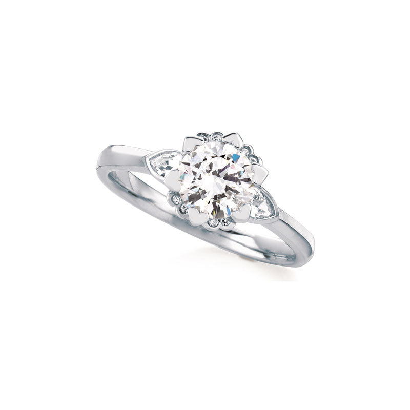 Iris Round Brilliant Diamond Enagement Ring